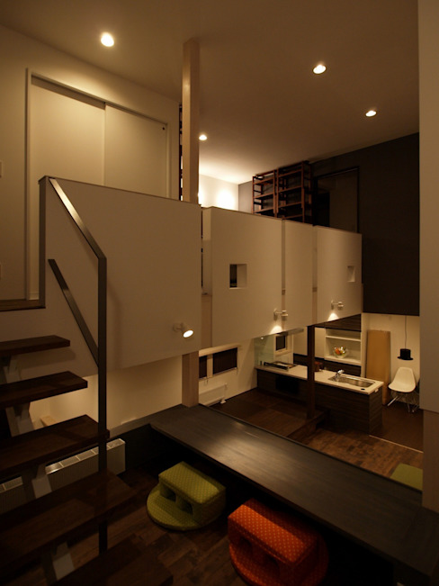 中二階が繋ぐ家 ミニマルスタイルの 子供部屋 の 富谷洋介建築設計 ミニマル