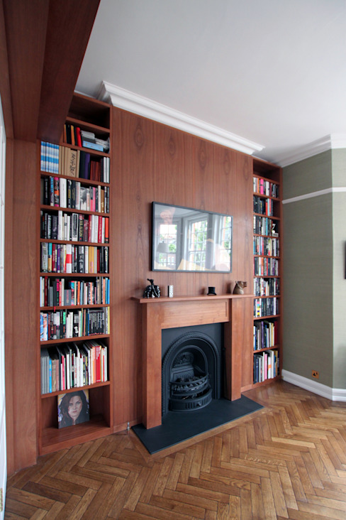 Wraparound Library & French Doors, Hampstead من Tendeter تبسيطي