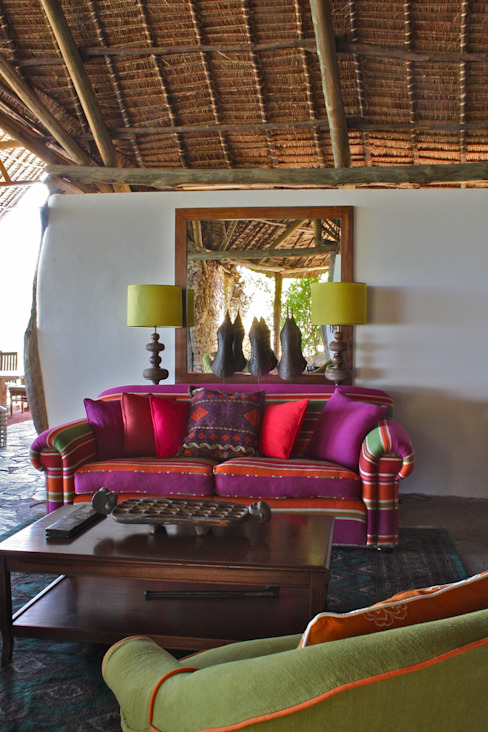 Beho Beho – Luxury Safari Lodge Salas de estilo tropical de Horton and Co Tropical