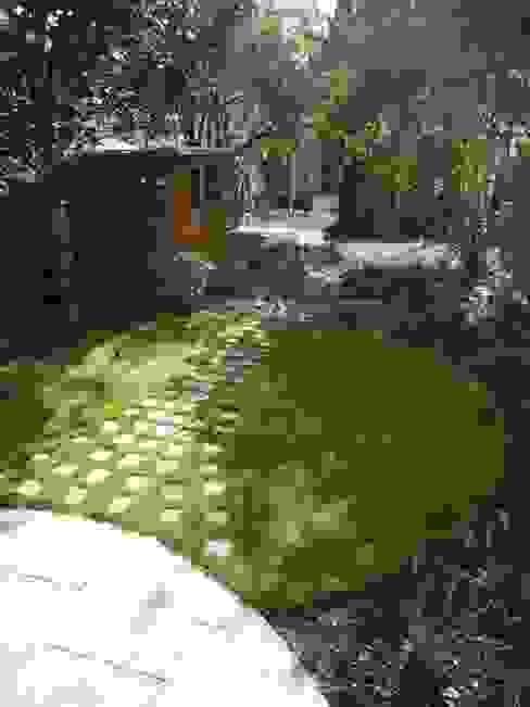 Long Suburban Garden Fenton Roberts Garden Design Rustic style garden