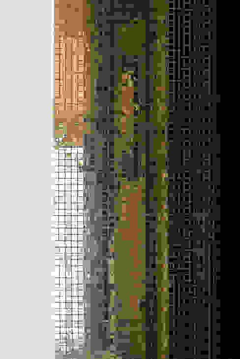 mosaïque de verre pour douche en colimaçon par Atelier TO-AU Moderne