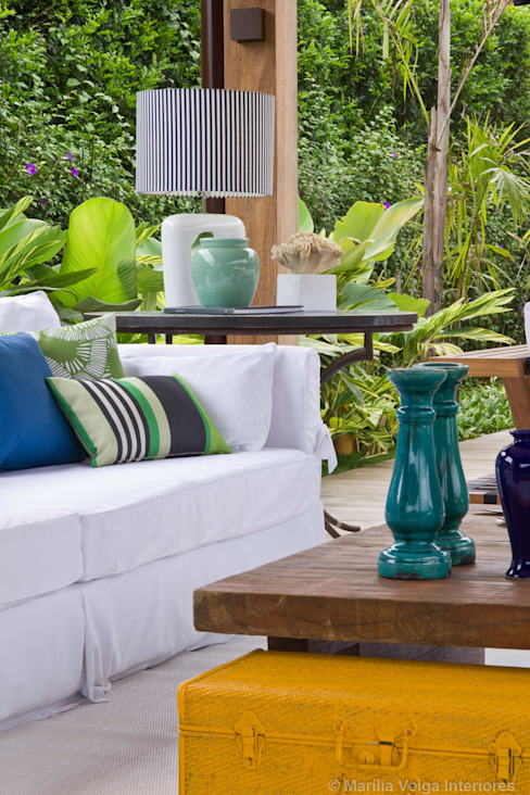 Terraços  por Marilia Veiga Interiores, Tropical