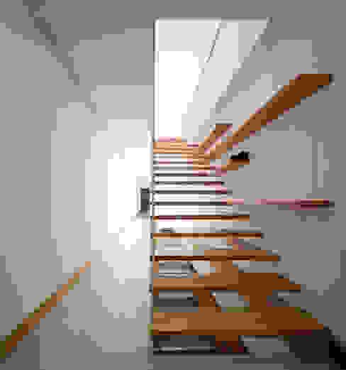 Casa em Moreira: Corredores e halls de entrada  por Phyd Arquitectura,