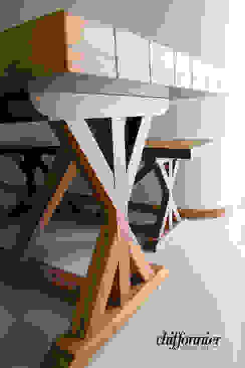 Mesa y banca en madera de Tzalam Chiffonnier ComedorMesas