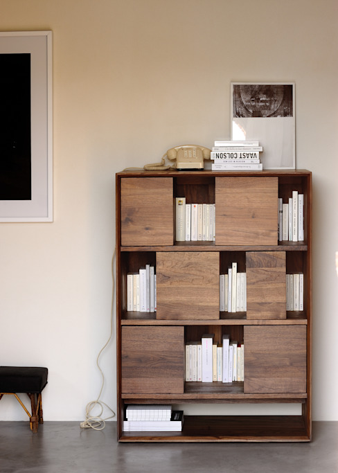 Nordic Walnut Rack de bolighus design Escandinavo