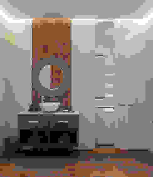 Лофт для молодой пары.: Ванные комнаты в . Автор – Домрачева Екатерина, Эклектичный