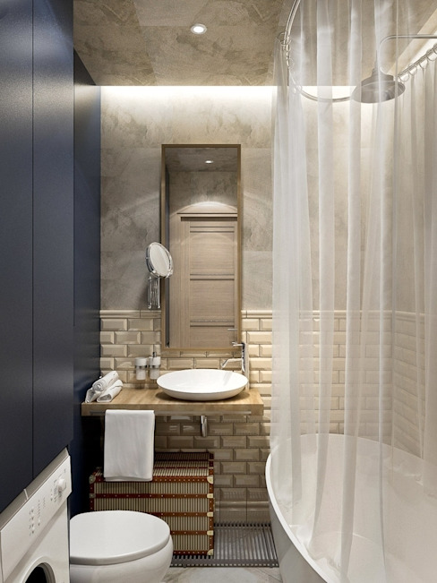 Ванная Ванная комната в скандинавском стиле от PlatFORM Скандинавский