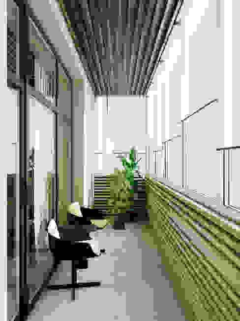 A Posteriori Балкон и терраса в стиле модерн от Max Kasymov Interior/Design Модерн