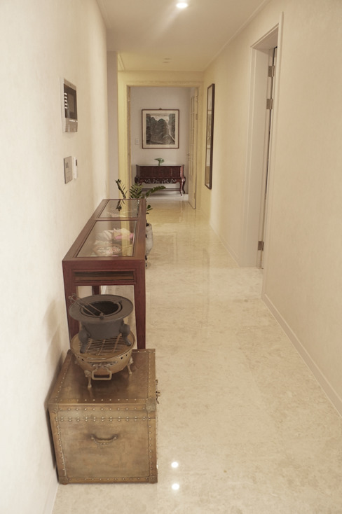 NEW EASYSTONE Delicato cream 600*600 Classic style corridor, hallway and stairs by (주)이지테크(EASYTECH Inc.) Classic