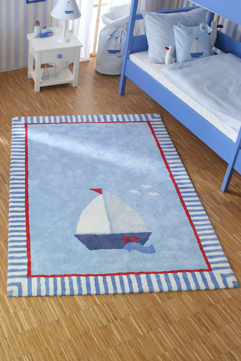Sailboat Rug di The Baby Cot Shop Moderno