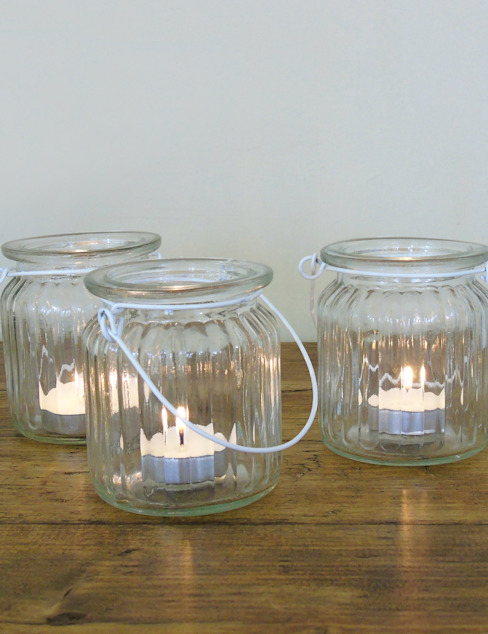 Glass Tea Light Jar de homify Ecléctico