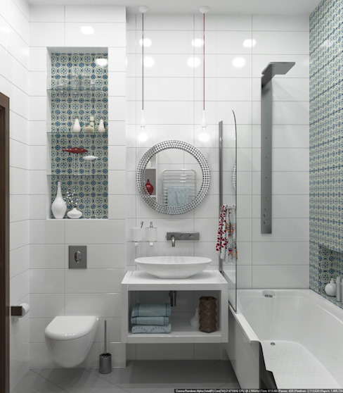 Baños de estilo escandinavo de Olesya Parkhomenko Escandinavo