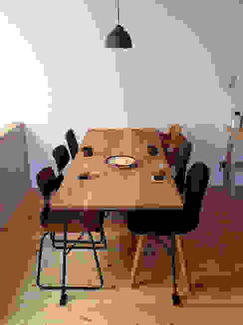オリジナルのダイニングテーブル: モノスタ'70が手掛けた折衷的なです。,オリジナル