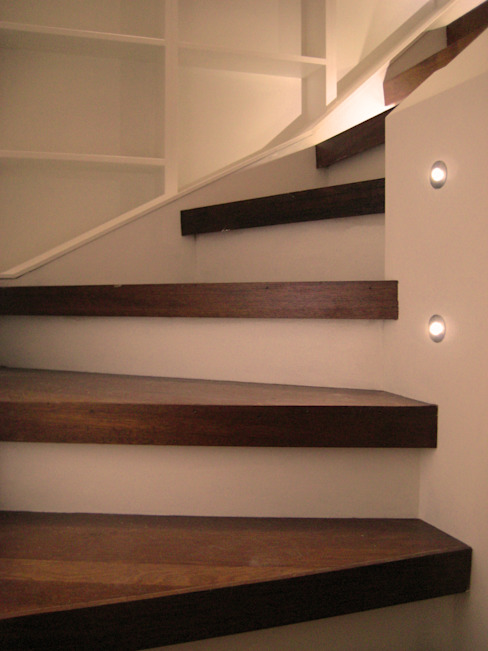 Stair Detail with Lights Arc 3 Architects & Chartered Surveyors Modern corridor, hallway & stairs