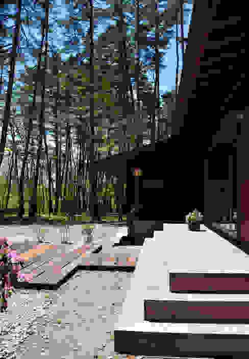南側デッキ モダンデザインの テラス の 設計工房 悠 モダン