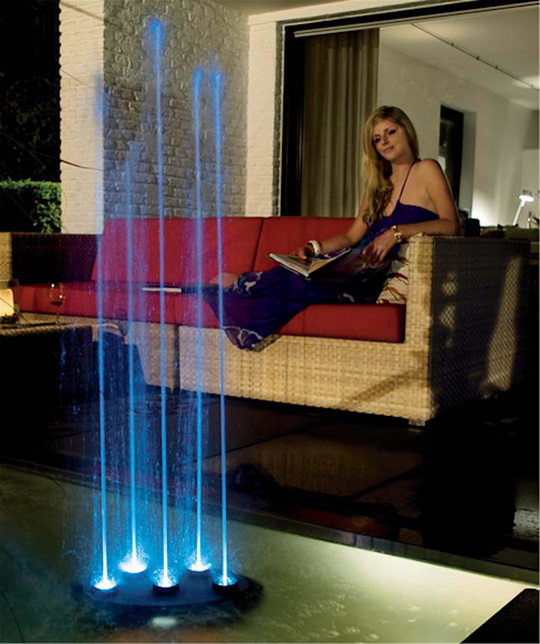 Dancing 5 Jet Water Feature Modern garden by Water Garden Ltd Modern