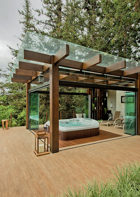 Espaço do Traço arquitetura Rustic style spa