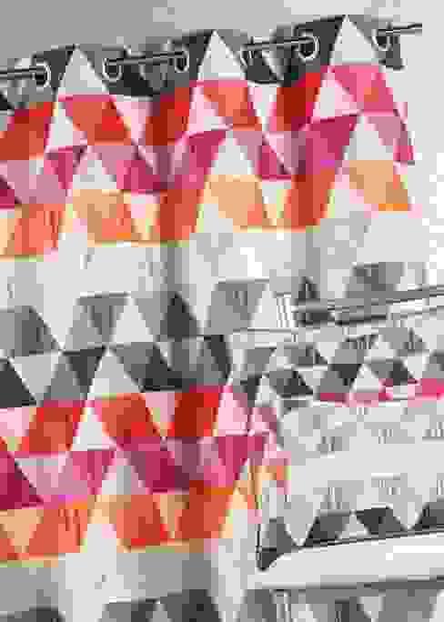 Rideau jacquard triangle - Mandarine par La Maison d'Ursule