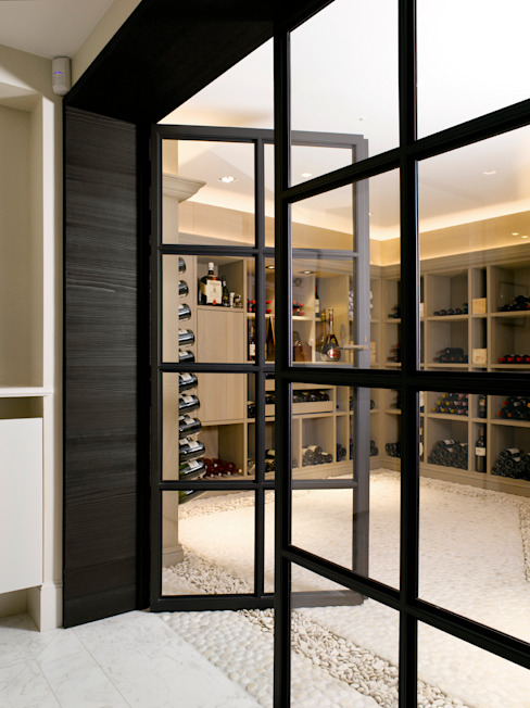 Modern wine cellar by ligne V Modern