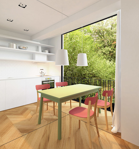 Apartment A02 dontDIY Modern dining room