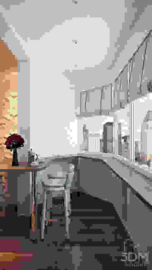 Minimalistische keukens van студия визуализации и дизайна интерьера '3dm2' Minimalistisch
