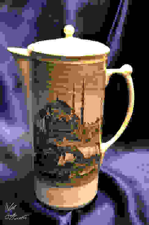 Ufuk Özçizme Seramik ve Sanat Atölyesi – Sufi İstanbul-Beyaz:  tarz Mutfak,