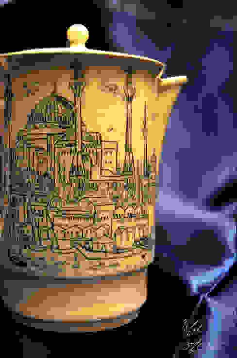 Ufuk Özçizme Seramik ve Sanat Atölyesi – Sufi İstanbul - Crackle:  tarz Mutfak,