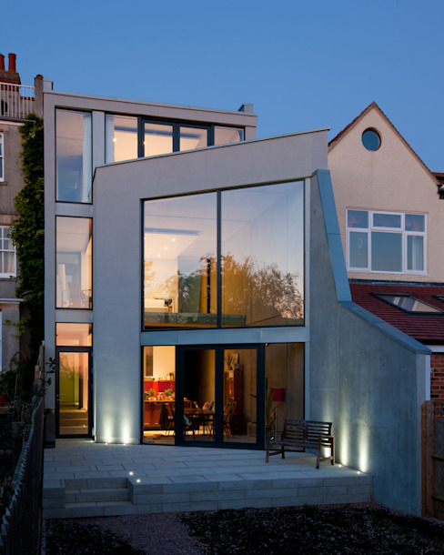 Hill Top House Maisons modernes par Adrian James Architects Moderne