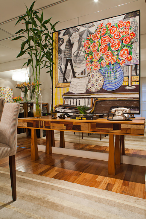 Dining room by IE Arquitetura + Interiores,