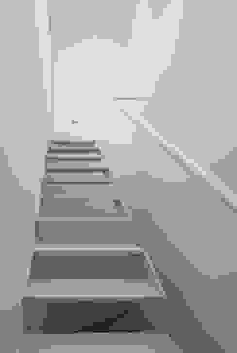 3階〜屋上への階段 ミニマルスタイルの 玄関&廊下&階段 の 井戸健治建築研究所 / Ido, Kenji Architectural Studio ミニマル