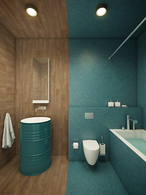 Privat Apartments in Novosibirsk من EVGENY BELYAEV DESIGN إنتقائي