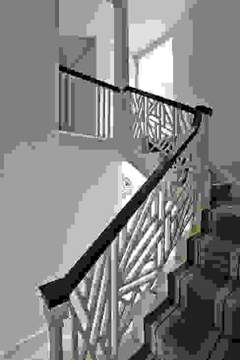 Ansty Manor, Stiarcase BLA Architects Ingresso, Corridoio & Scale in stile rurale
