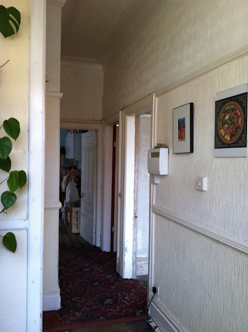 Rowan Ave Eclectic style corridor, hallway & stairs by Pride Road Eclectic