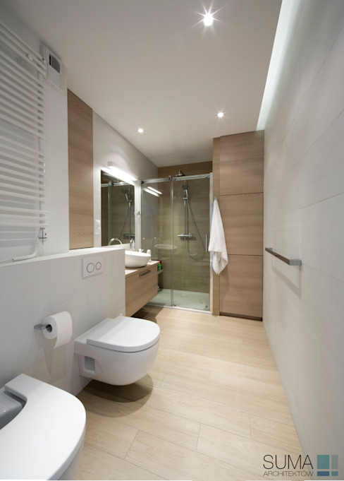 MODERN ONE Scandinavian style bathroom by SUMA Architektów Scandinavian