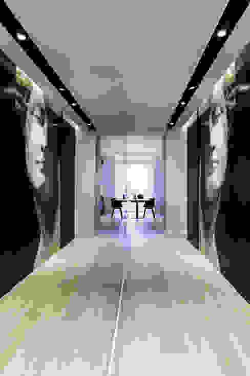 Corridor & hallway by Anna Maria Sokołowska Architektura Wnętrz , Minimalist