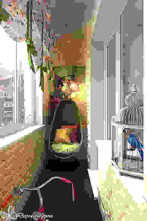 Landelijke balkons, veranda's en terrassen van Your royal design Landelijk