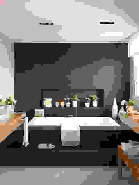 20 m2 de baño Disak Studio Baños de estilo moderno