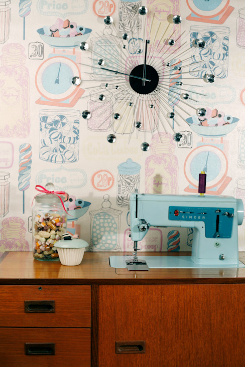 Oh Sweetie Wallpaper by Kate Usher Studio de Kate Usher Studio Moderno