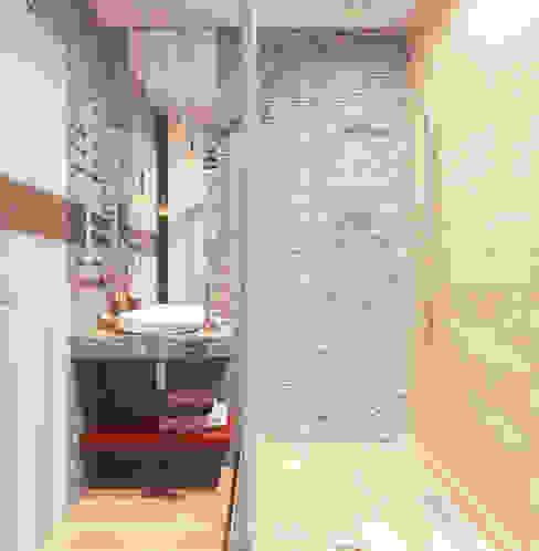 Проект трехкомнатной компактной квартиры Ванная комната в эклектичном стиле от Katerina Butenko Эклектичный