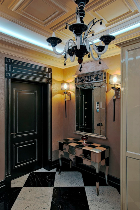 Modern corridor, hallway & stairs by Studio B&L Modern