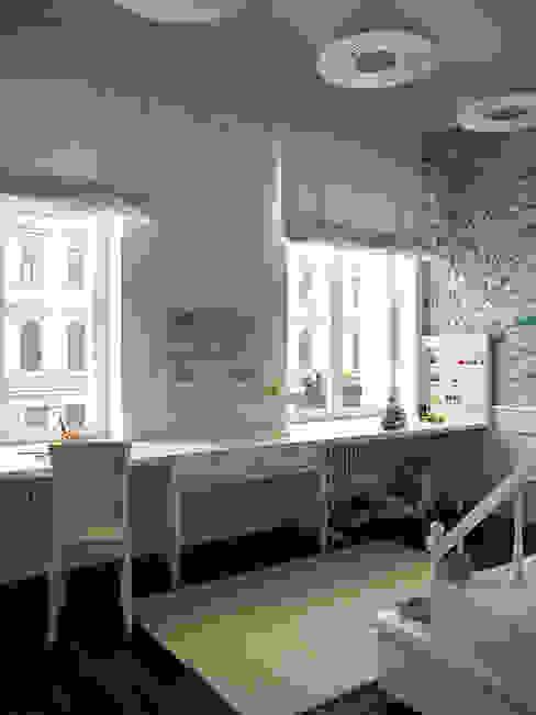 Chambre d'enfant originale par Архитектурное бюро Андрея Стубе Éclectique