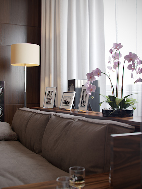 Salas de estilo ecléctico de Архитектурное бюро Андрея Стубе Ecléctico