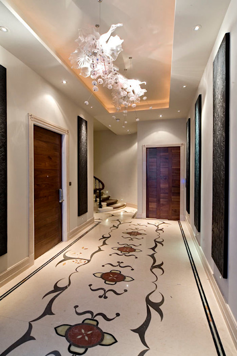 Lancaster Gate Modern corridor, hallway & stairs by Simply Italian Modern