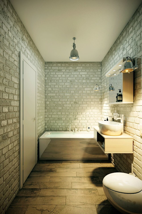 Industrial style bathroom by CO:interior Industrial