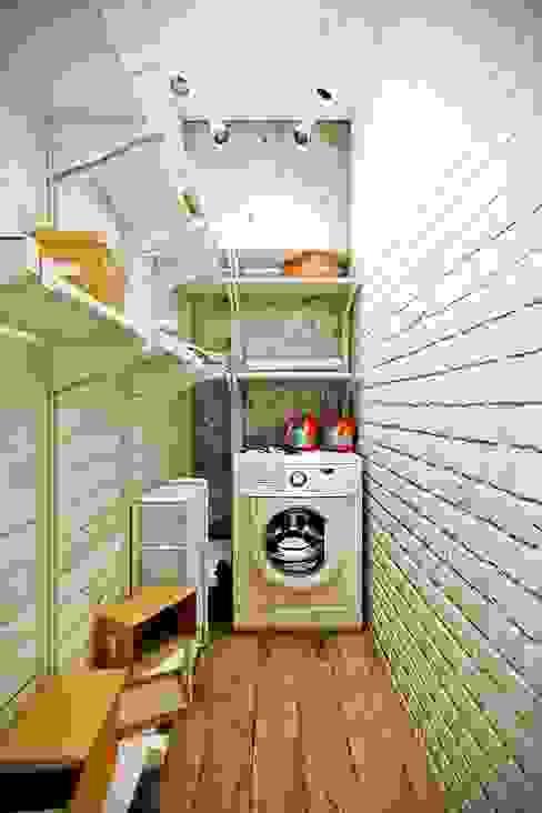 Каменный лофт Коридор, прихожая и лестница в стиле лофт от CO:interior Лофт