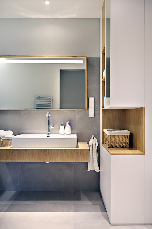 Apartament SW PB/STUDIO Minimalistyczna łazienka