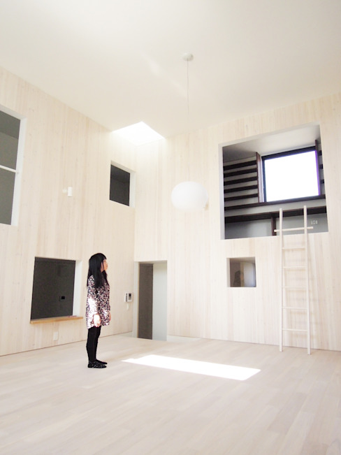 Modern living room by JMA(Jiro Matsuura Architecture office) Modern