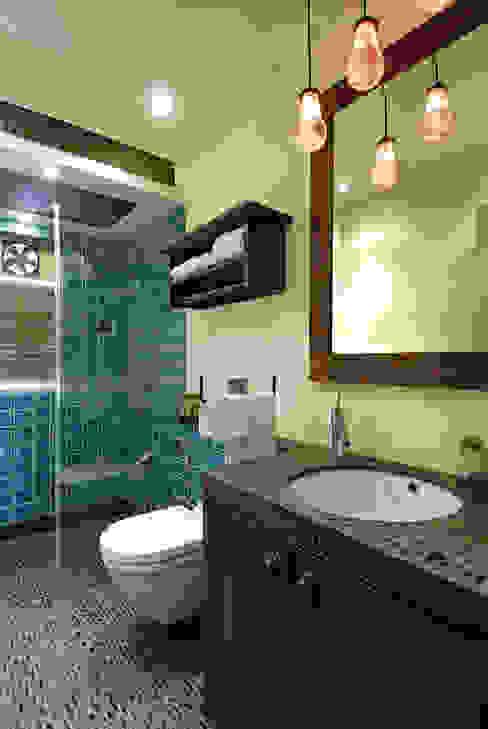 Colourful Living The Orange Lane Modern bathroom