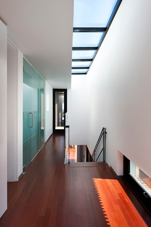 Modern corridor, hallway & stairs by ADF Architects Modern
