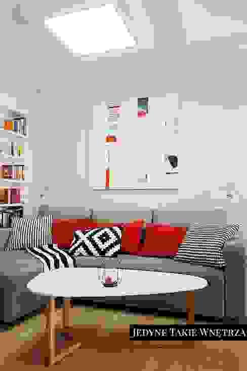 Skandynawskie inspiracje w salonie: styl , w kategorii Salon zaprojektowany przez JedyneTakieWnętrza,Skandynawski